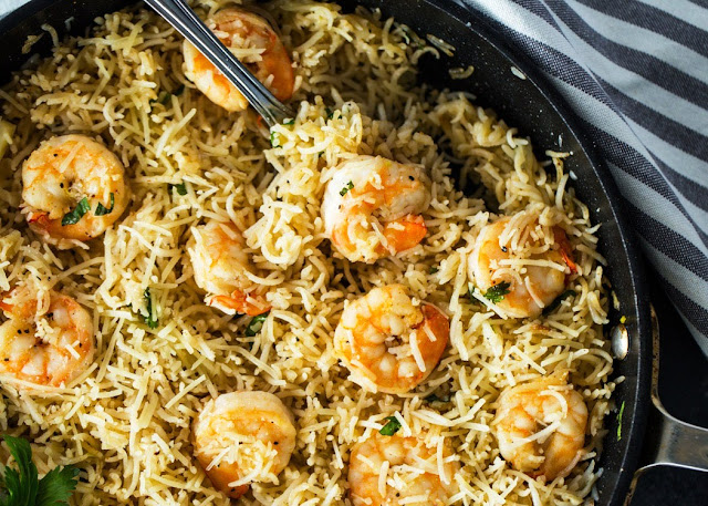 Garlic Shrimp and Rice - 1