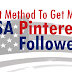 Buy USA Pinterest Followers For $1 [Guaranteed Service]