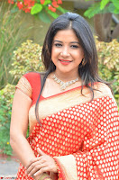 Sakshi Agarwal  in Orange Saree at Inauguration of Handloom And Handicraft exhibition ~  Exclusive 17.JPG