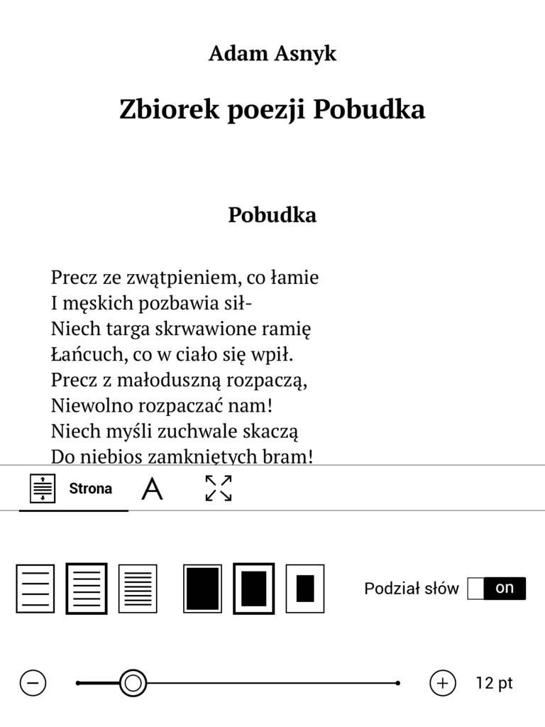 c5e6cec9740db2 Ustawienia układu strony e-booka w PocketBook InkPad 3