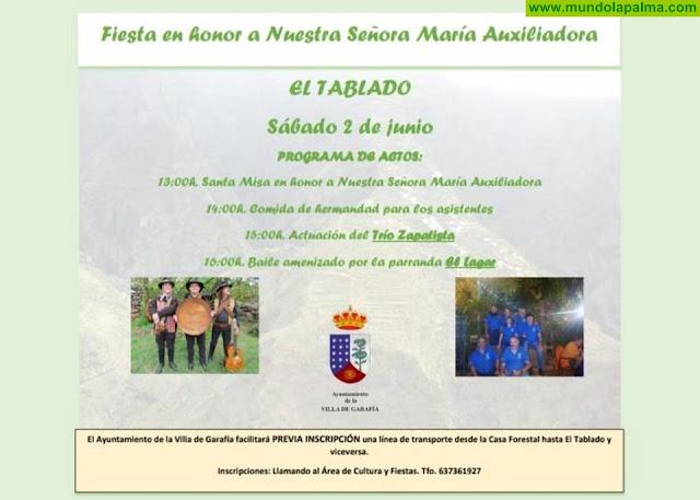 Fiesta en honor a Nuestra Señora María Auxiliadora El Tablado, Garafía 2018