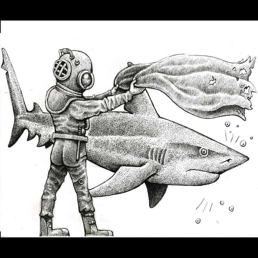 01-Bull-shark-and-matador-Tim-Andraka-www-designstack-co