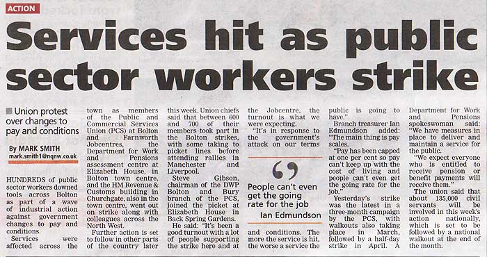 PCS picket line article