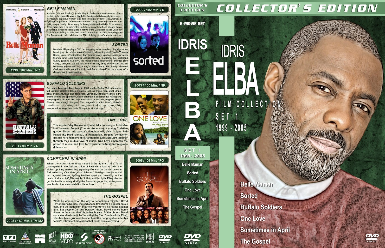 Idris Elba Filmography Set 1-7 [Large Spine] DVD Cover