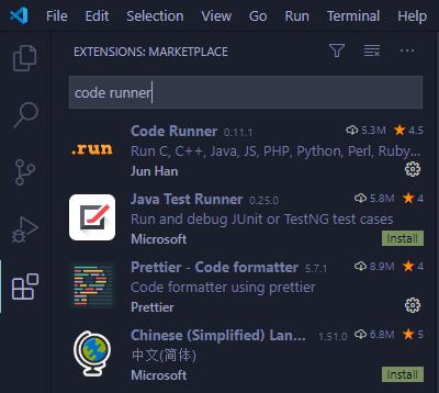 search code runner