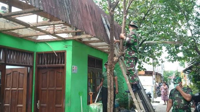 Kodim Depok Rehab Empat Rumah Veteran