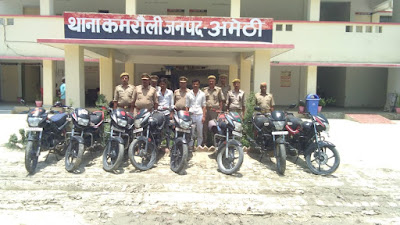Motor Cycle Thieves Arrested By Police Uttar Pradesh