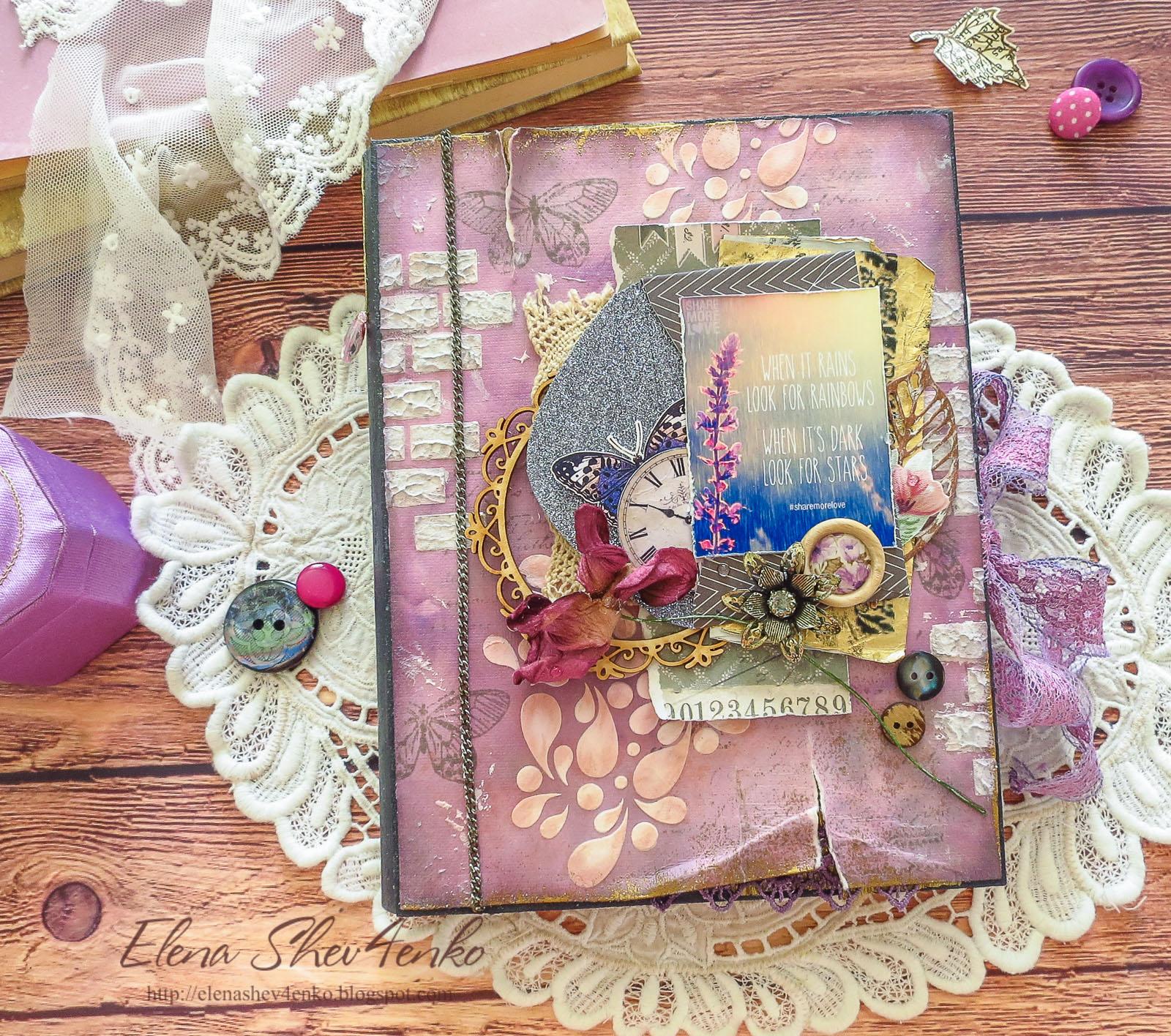 коробочка-книга, скрапбукинг, коробочка для подарка, подарок девушке, лаванда, lavender, box for gift, scrapbooking, box