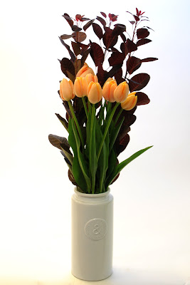 French tulip and cotinus bouquet