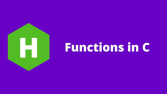HackerRank Functions in C problem solution