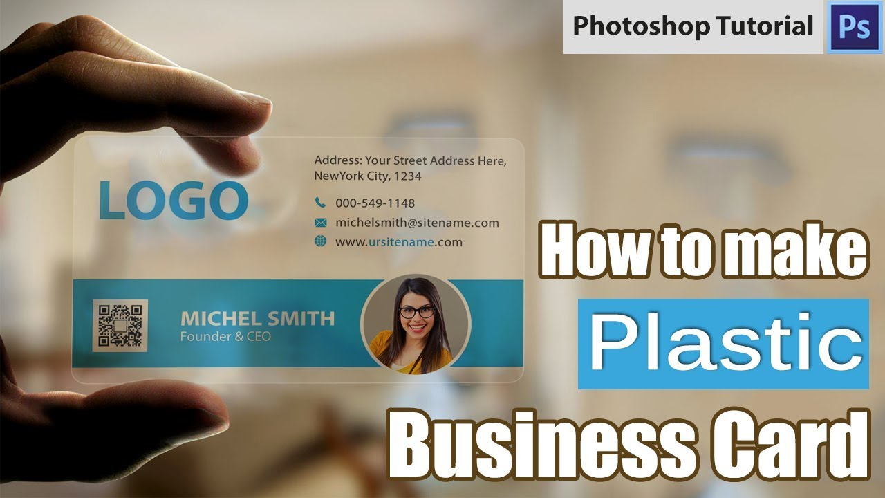 How To Make Plastic Business Card In Photoshop | Free Download ...