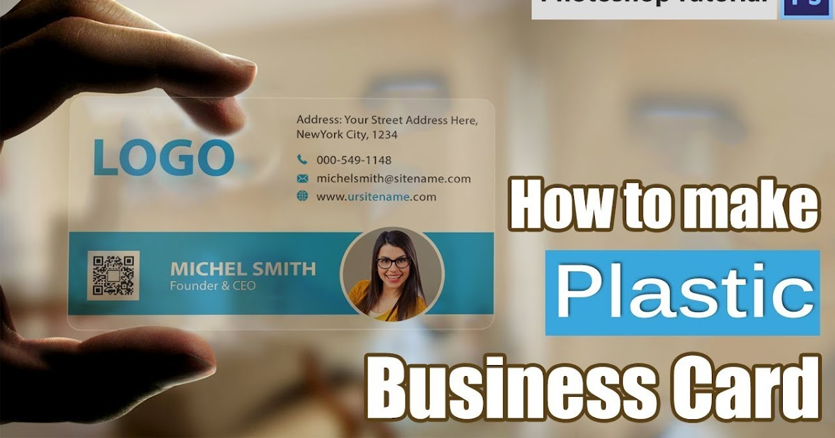Make Plastic Business Card In Photo