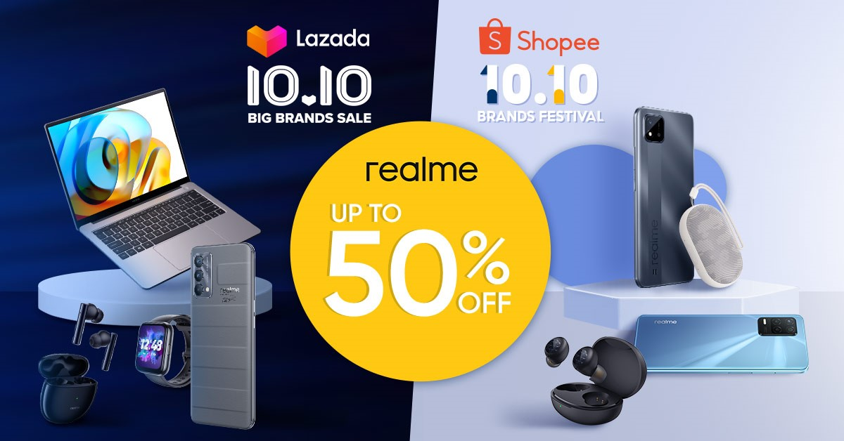 Score up to P7,000 off on realme devices this 10.10 Sale