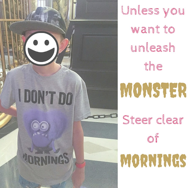 The Key to Communication with a Tween | Morgan's Milieu: Unleashing the monster in a morning is not recommended.