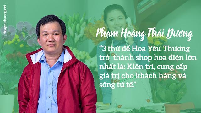 Phạm Hoàng Thái Dương chủ shop Hoa Yêu Thương