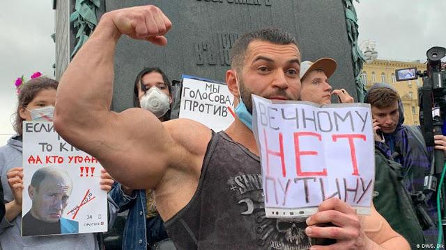 Митинг в Москве и Питере – народ против обнуления Путина и диктатуры