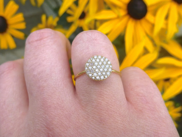 Accessorize Galaxy Pave Disc Ring