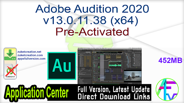 Adobe Audition 2020 v13.0.11.38 (x64) Pre-Activated