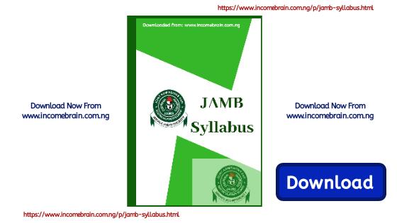 New JAMB Syllabus