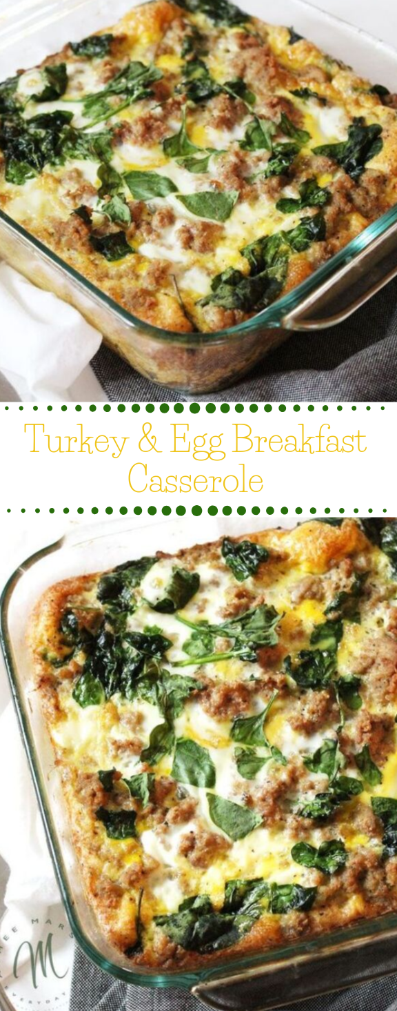 Turkey & Egg Breakfast Casserole #breakfast #diet #food #paleo #whole30