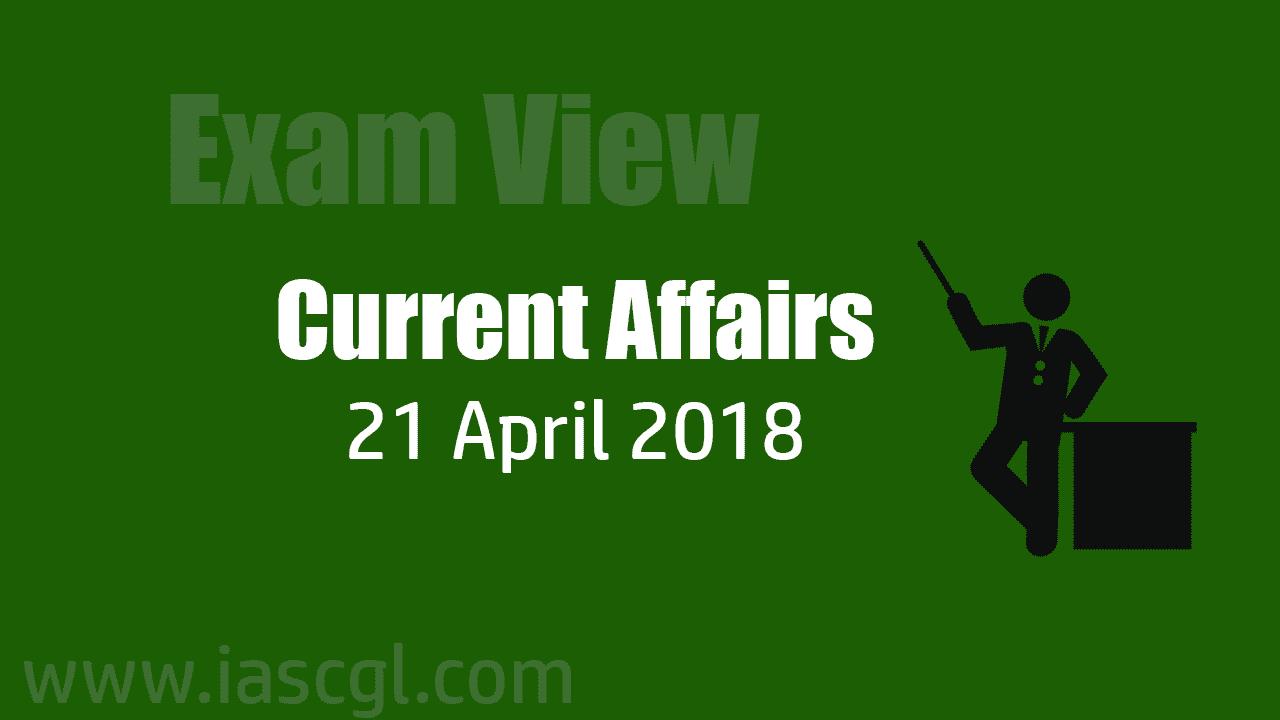 Current Affair 21 April 2018
