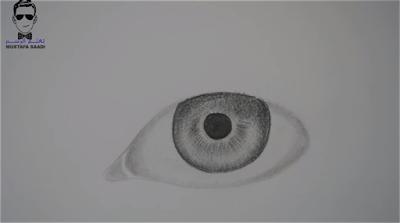 طريقة رسم العين