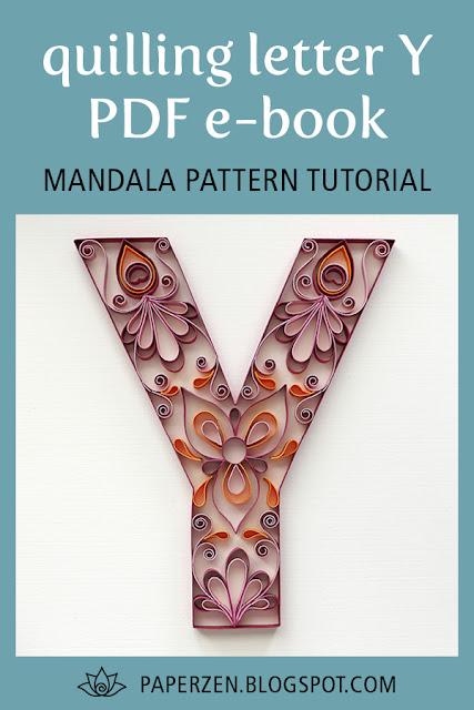 quilling letter y mandala pattern tutorial