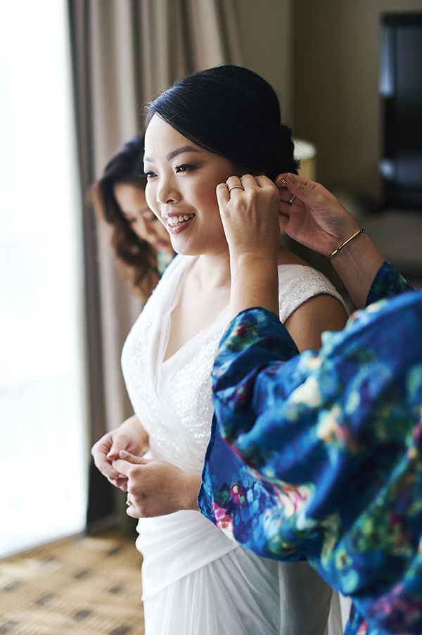 Vancouver beauty, life and style blogger Solo Lisa gets dressed for her wedding day with help from her bridesmaids.