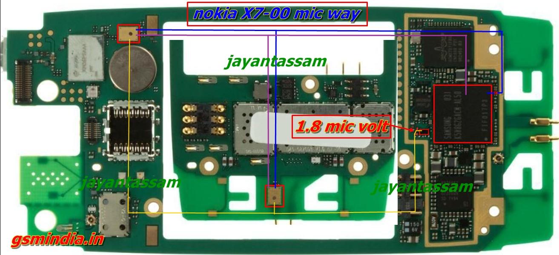 Nokia X700 Mic Ways Full Jumper Diagram  GSMHosters