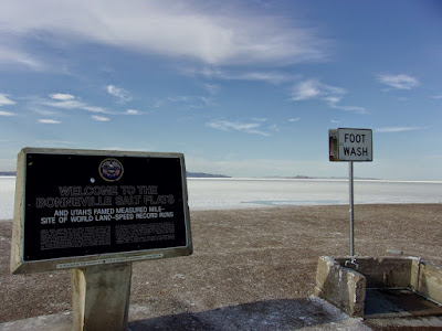 the Bonneville Salt Flats - Utah - photo by gvan42