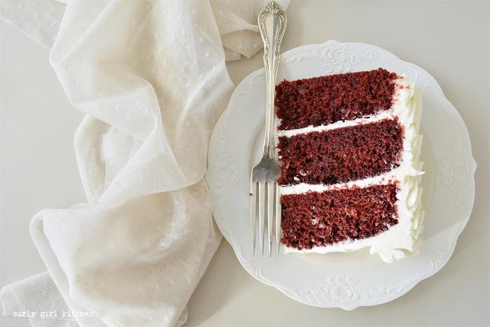 Red Velvet Cake, Cream Cheese Buttercream, Vanilla Bean Buttercream, High Altitude Red Velvet Cake, High Altitude Cake Recipes