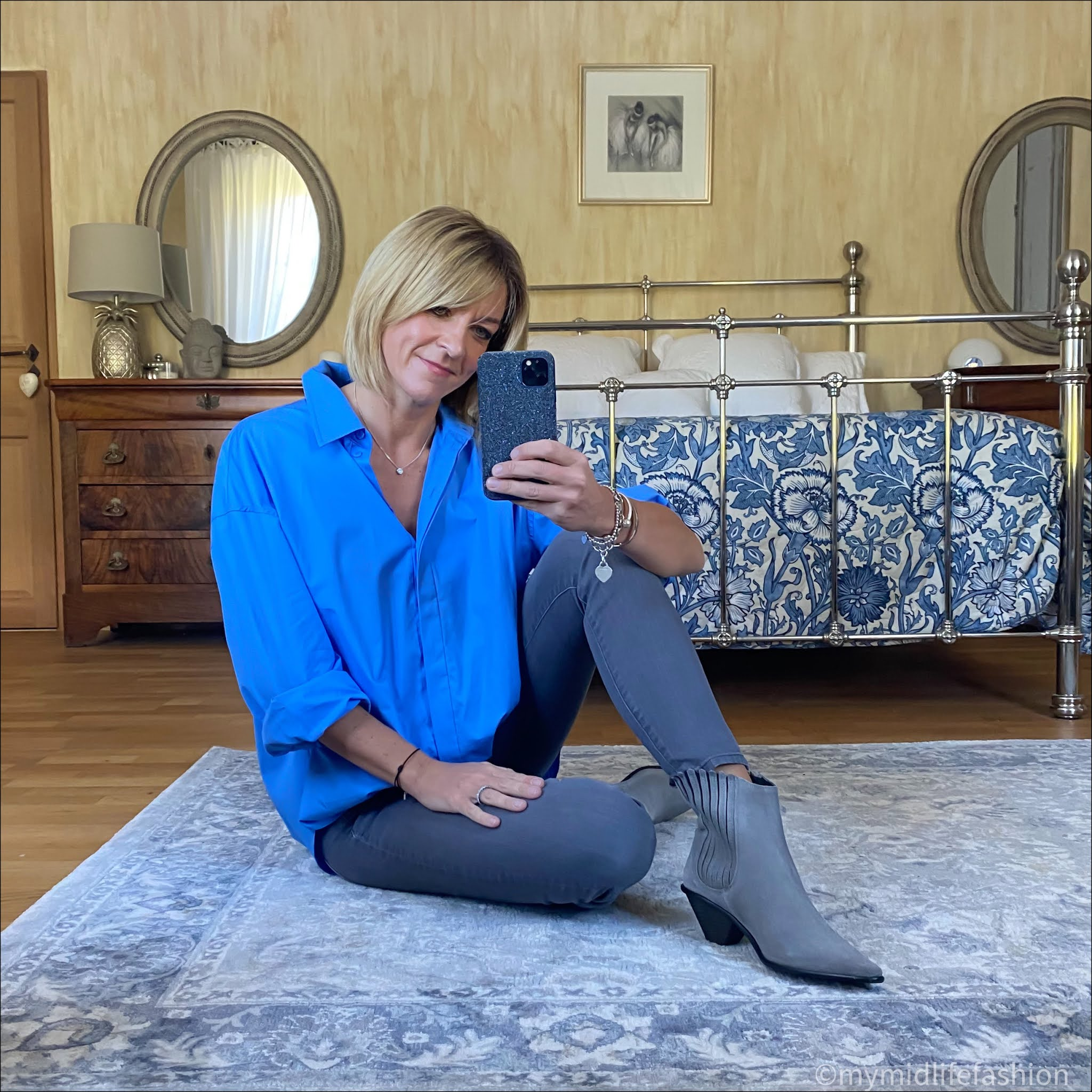 my midlife fashion, zara poplin shirt, j crew 8 inch toothpick jeans, jigsaw cowboy ankle boots
