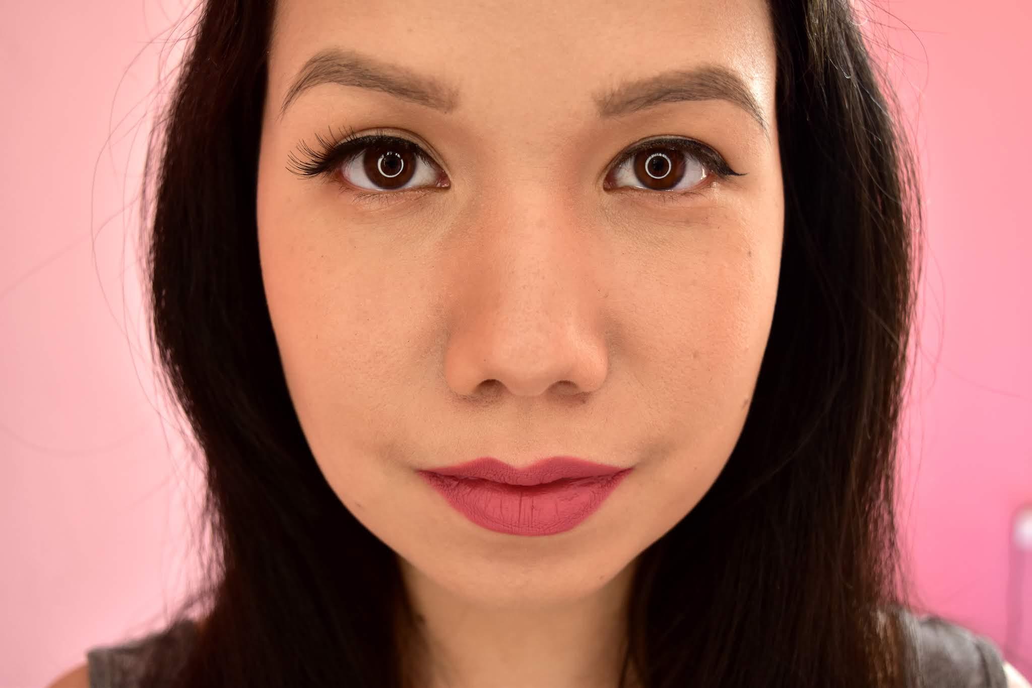 Makeup Revolution Wispy Lashes aplikované