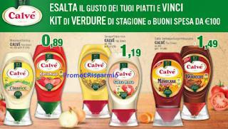 Logo Con Knorr e Calvé vinci 180 kit di verdure e 80 buoni spesa da 100 euro