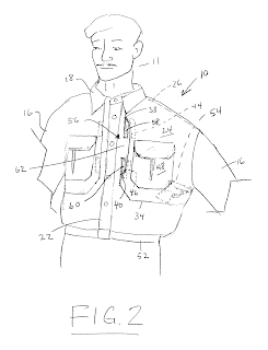 Fig.2 Patent US 6986164 B1 Tactical shirt for carrying a concealed weapon