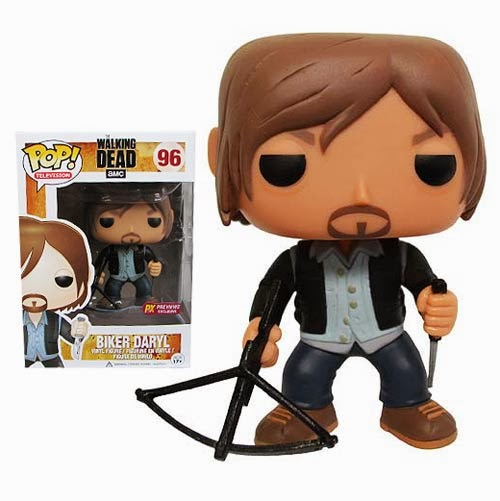 Previews Exclusive The Walking Dead Biker Daryl Dixon Pop! Vinyl Figure by Funko