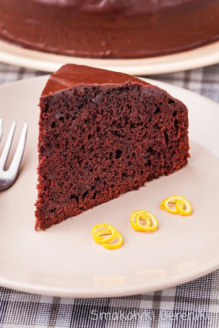 Ciasto czekoladowo-pomarańczowe z polewą
