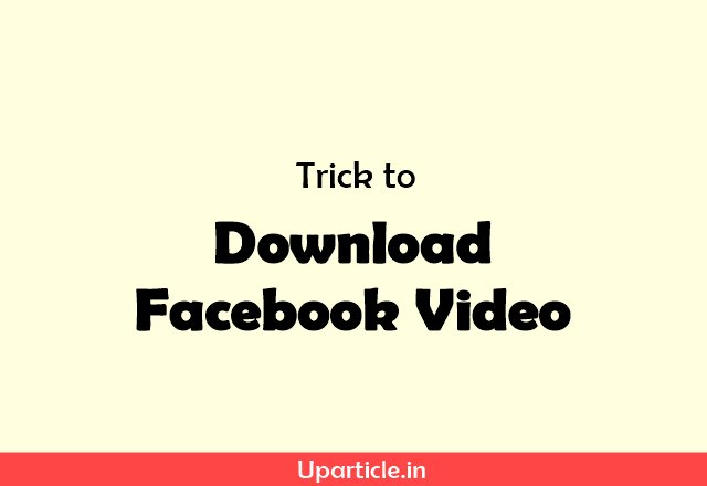 Facebook ke video kaise download Karen