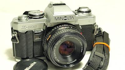 Minolta X-500 (Chrome) Body #051, Minolta MD Rokkor-X 45mm 1:2 #732