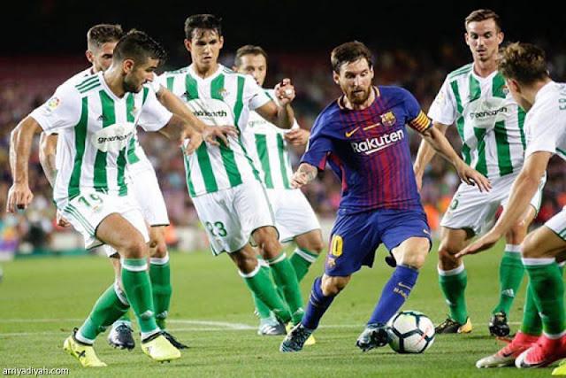 اهداف وملخص مباراه برشلونة وريال بيتيس في الدوري الاسباني 25-8-2019