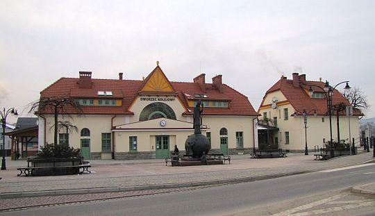 """Dworzec kolejowy """"Rabka-Zdrój""""."""