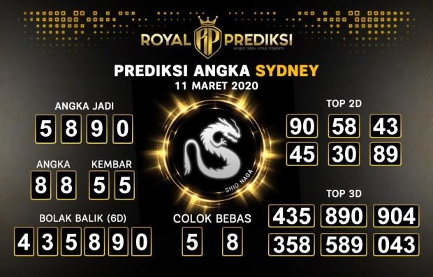 Prediksi Togel Sidney Rabu 11 Maret 2020 - Prediksi Angka Sidney