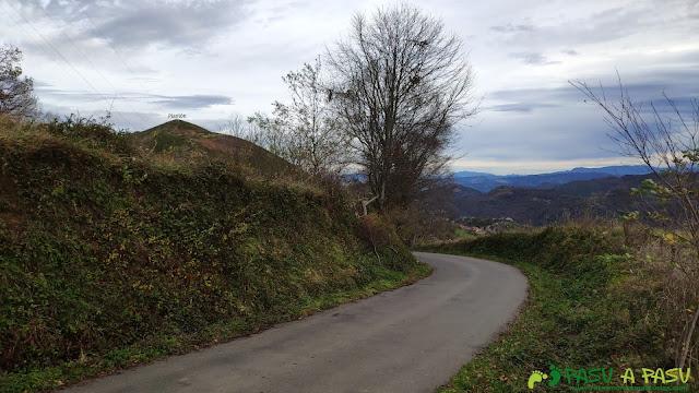 Carretera que baja a Castañedo del Monte
