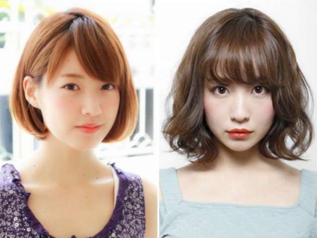 Model rambut wanita pendek Layer Lurus