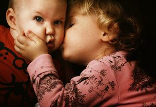 Cute Baby Kiss Hd Wallpaper
