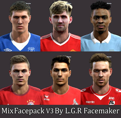 Mix Facepack V3 By L.G.R Facemaker.