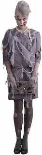 Women's Zombie First Lady Adult Costume - Gray - Standard One-Size