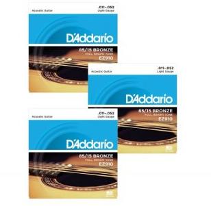 D'Addario EZ910 85/15 American Bronze Acoustic Guitar Strings