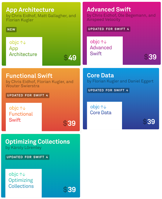 All IOS Books from Objc.io latest version that supports swift 4 and IOS 11