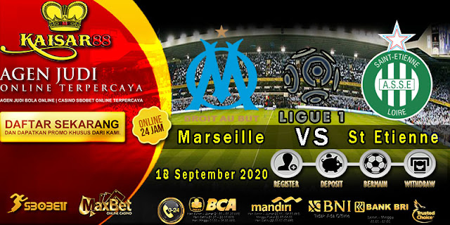 Prediksi Bola Terpercaya Liga 1 Prancis Marseille vs Saint Etienne 18 September 2020